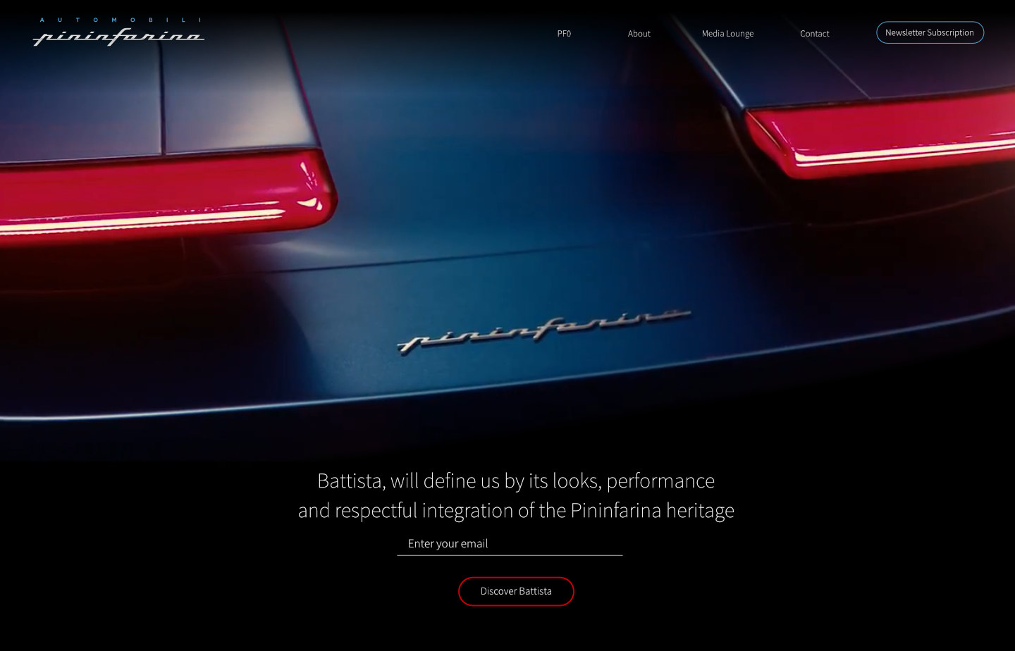 Pininfarina-website-meg-wehrlen-email-capture