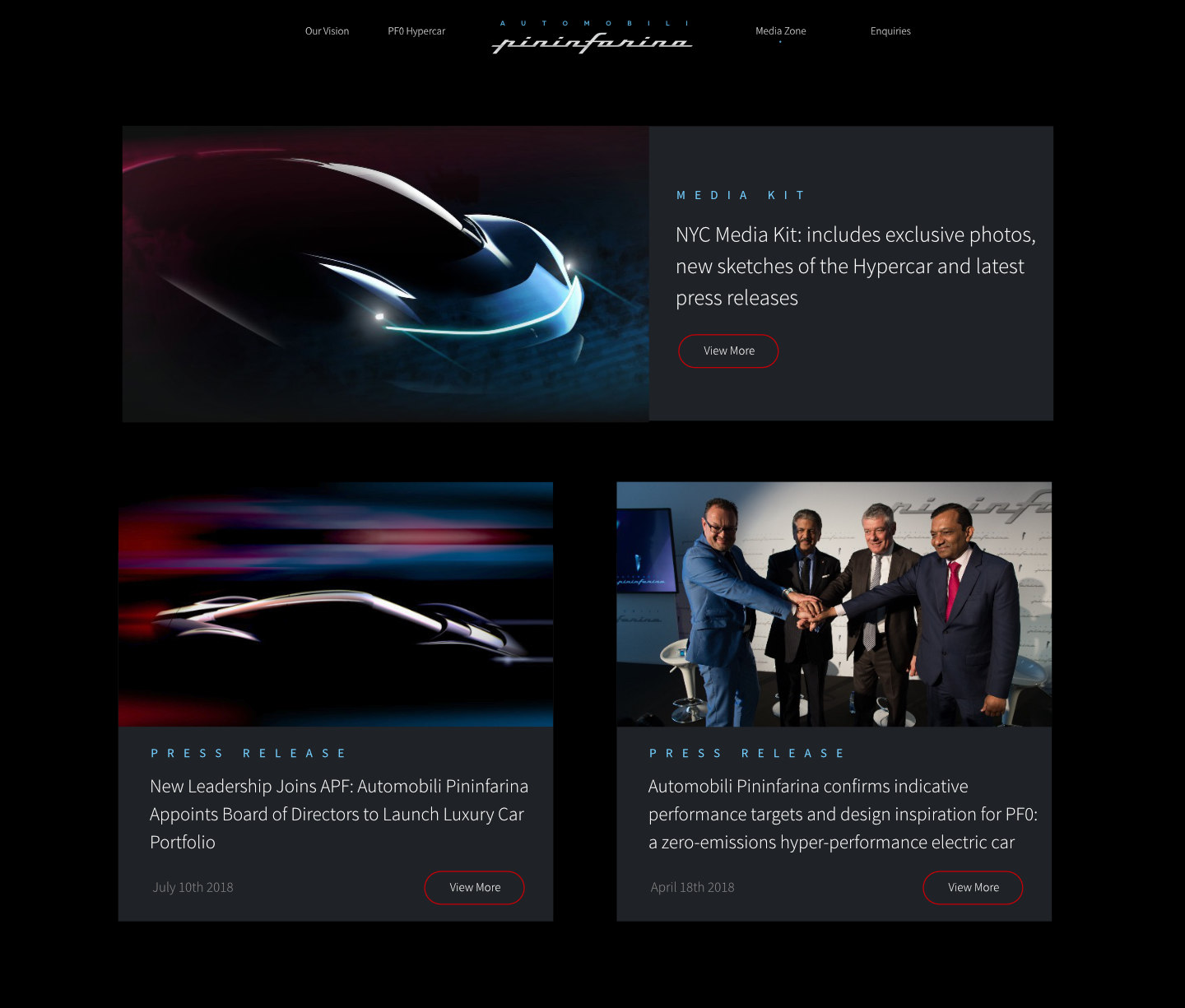 Pininfarina-website-meg-wehrlen-media-zone